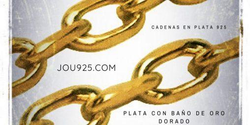 cadenas plata bañadas en oro