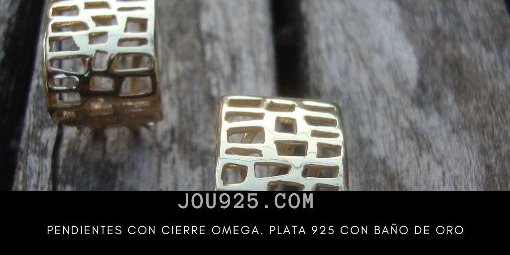 pendientes plata 925 con baño de oro