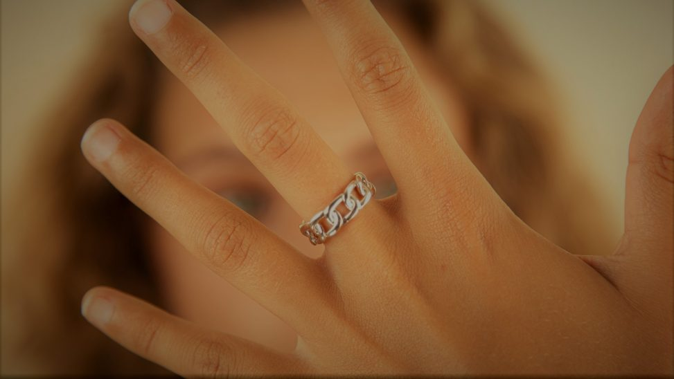 anillos en plata abiertos
