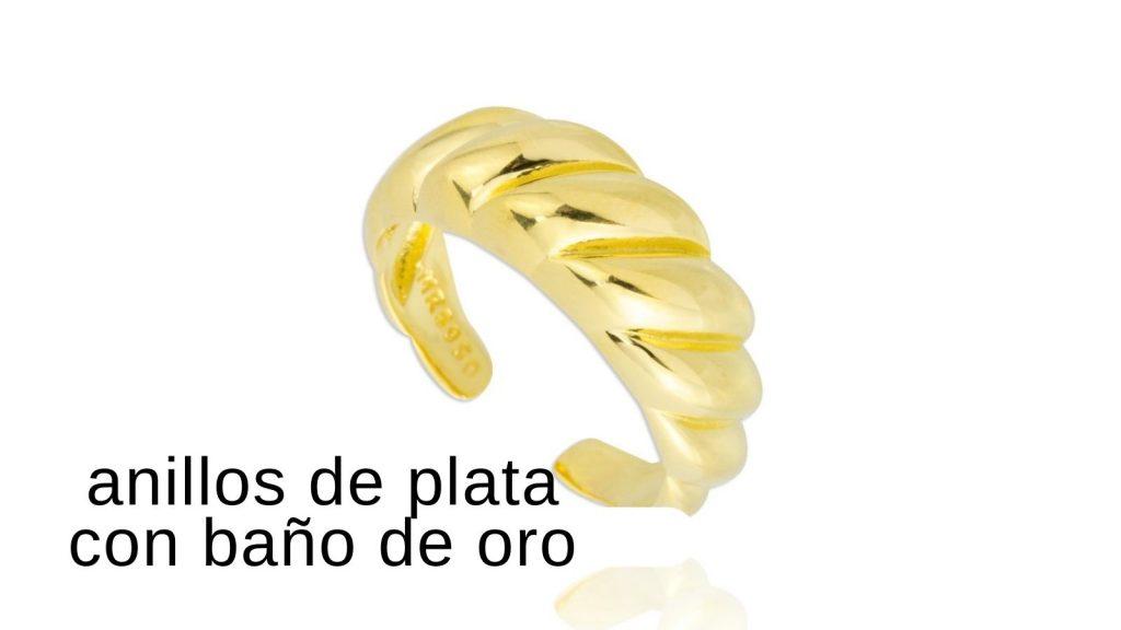 anillos de plata con baño de oro